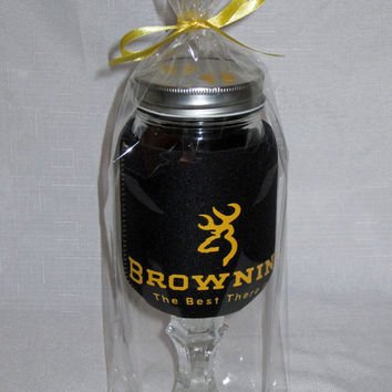 Browning Redneck Wine Sippin Glass