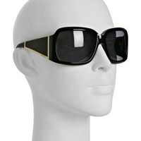 Jimmy Choo black 'Ella' oversized square sunglasses at Bluefly