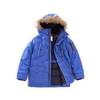 Boys autumn and winter outerwear Children's warm waterproof hooded jacket