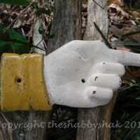 Pointing Finger Hand / Cast iron Hand Pointing Sign