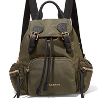 Burberry Prorsum - Small leather-trimmed gabardine backpack