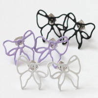 {illuso} Pastel Ribbon Earrings - $6.00 : Welcome! SHOP WITH ROMI.COM