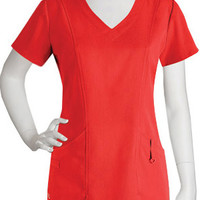 NRG by Barco Uniforms Women's V-Neck Shaped Solid Top