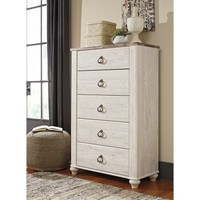 Signature Design by Ashley Willowton 5 Drawer Chest - Walmart.com