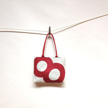 Red Number 8 Upcycled Sail Purse