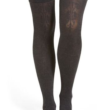 Chelsea28 Floral Brocade Over the Knee Socks | Nordstrom