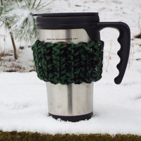 Crochet Coffee Cozy, set of 3- Eco Friendly Cozy- Cup Warmer- Co Worker Gift- Coffee Lover Gift- To Go Cup Sleeve