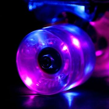 Purple Sunset Flare LED Glow In The Dark Light Up Skateboard Wheels