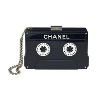 CHANEL CASSETTE TAPE CLUTCH at 1stdibs