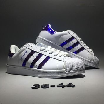 """Adidas Originals Superstar ll"" Unisex Fashion Casual Classic Stripe Shell Head Plate Shoes Sneakers Couple Small White Shoes"