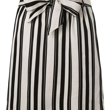 Striped Linen Paper Bag Skirt