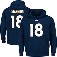 Peyton Manning Denver Broncos Majestic Eligible Receiver II Hoodie – Navy Blue