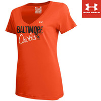 Baltimore Orioles Women's Charged Cotton V-Neck by Under Armour® - MLB.com Shop