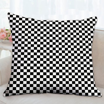 Checkerboard Race Pillow, Decorative pillow, Throw Pillows, Floor Pillow, Man Cave Pillow, Kids Room Pillows, Modern Pillow, Gift for him