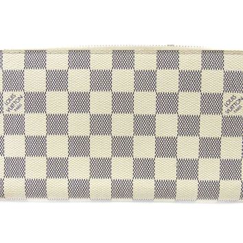 LOUIS VUITTON Zippy Organizer Long wallet N60012 Damier Azur White