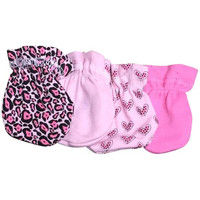 True Ziggles 4 Pc Baby Mitten Set - Pink