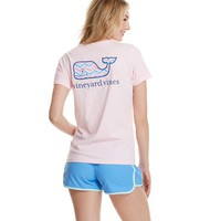 Short-Sleeve Chevron Whale Fill Pocket Tee