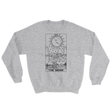 The Moon Tarot Crewneck Sweatshirt Sport Grey