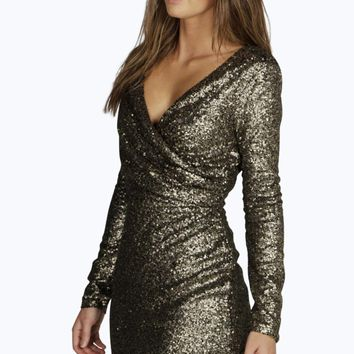 Boutique Anya All Over Sequin Bodycon Dress