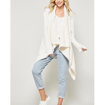 fly away faux shearling vest - ivory pearl