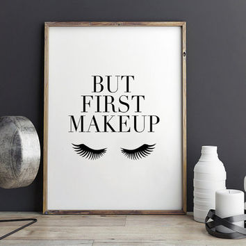 MAKEUP PRINTS,PRINTABLE Art,Lashes Print,Bathroom Decor,Girls Room Decor,Girls Bedroom Decor,Gift For Her,Makeup Artist,Typography Print