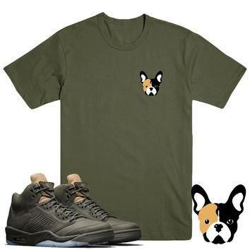 FRENCHIE- Jordan Take Flight 5's Sneaker Match T-Shirt Tees