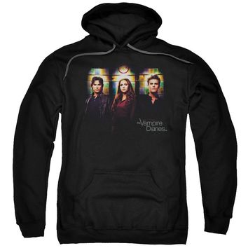 Vampire Diaries - Stained Windows Adult Pull Over Hoodie Officially Licensed Apparel