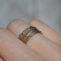 Victorian Lace No. 1 Bronze Ring