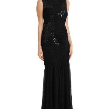 JS Collections - 864259 Sleeveless Floral Sequined Trumpet Gown