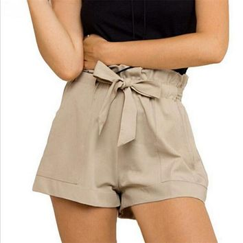 Bowknot Pocket Shorts
