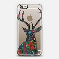poinsettia deer transparent iPhone 6 case by Sharon Turner | Casetify