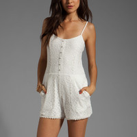Lovers + Friends Escape Romper in White Lace from REVOLVEclothing.com