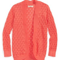 Girl's Tucker + Tate 'Flyaway' Pointelle Knit Cardigan