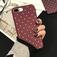 Polka Dot Case for iPhone 7 7Plus & iPhone se 5s 6 6 Plus High Quality Cover +Gift Box