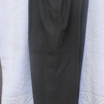 Vintage 80s Womens Pants Blair Cos Cob with Pockets NWT Polyester and Wool Size 12