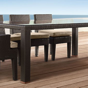 2017 High end Resin Wicker restaurant outdoor vogue dining table sets