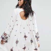 Free People Embroidered Mini Smock Dress at asos.com