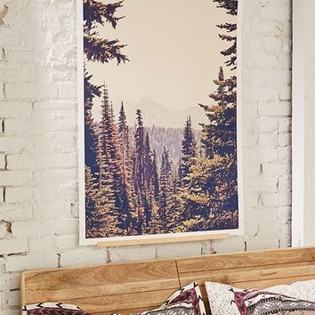 Kurt Rahn Mountains Through The Trees Art Print | Urban Outfitters