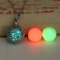 Stainless Steel Pendant Necklace (+3 Luminous Beads)