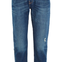 Levi's 501 CT Jeans - 501 CT distressed mid-rise straight-leg jeans