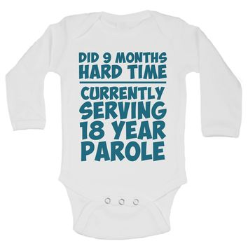 Did 9 Months Hard Time Currently Serving 18 Year Parole Funny Kids Onesuit