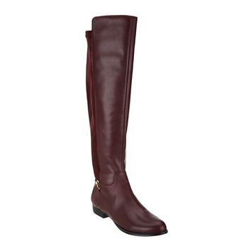 """As Is"" Isaac Mizrahi Live! Leather & Stretch Over the Knee Boots"