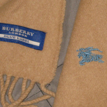 Sale!! Vintage Burberry of London Scarf Burberrys Blue label Free shipping within the USA