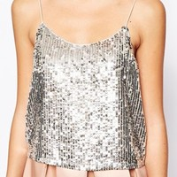 New Look Exclusive Sequin Cami Top