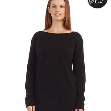 Lord & Taylor Petite Cashmere Boat Neck Sweater