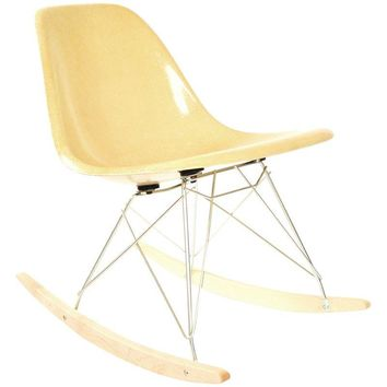 Pre-owned Herman Miller Ochre Fiberglass Rocking Chair