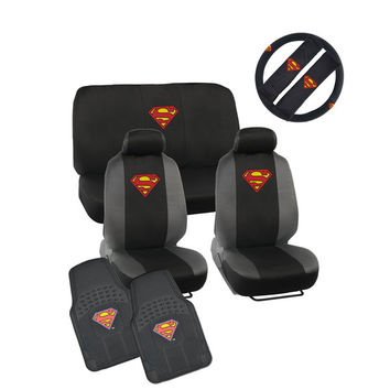 Warner Brothers Universal Fit Superman Seat Cover/ Accessories Set | Overstock.com Shopping - The Best Deals on Car Seat Covers