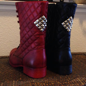 Harley Quinn Arkham Knight Boots Custom Made