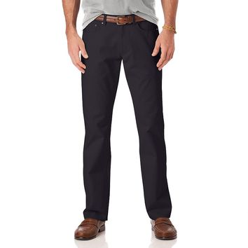 Chaps Classic-Fit 5-Pocket Twill Flat-Front Pants - Big & Tall, Size:
