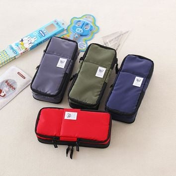 Korea Large capacity School Pencil Case & Bags Multifunction big pen bag for girls boys school supplies
